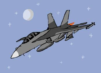 F-18 Hornet by Sharklover74