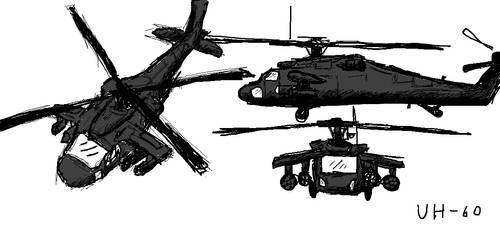 UH-60 Blackhawk by Sharklover74