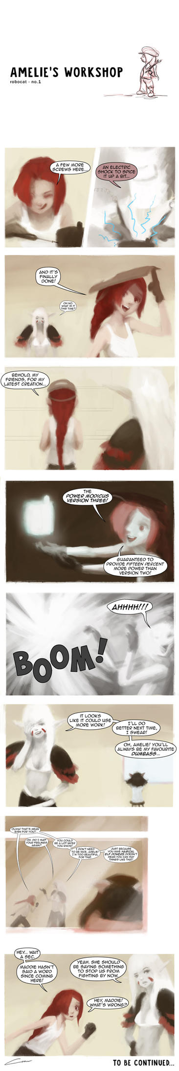 Amelie's Workshop 1 (Original Comic) by Alex-Chow