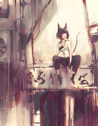 Street Cat (ORIGINAL) by Alex-Chow