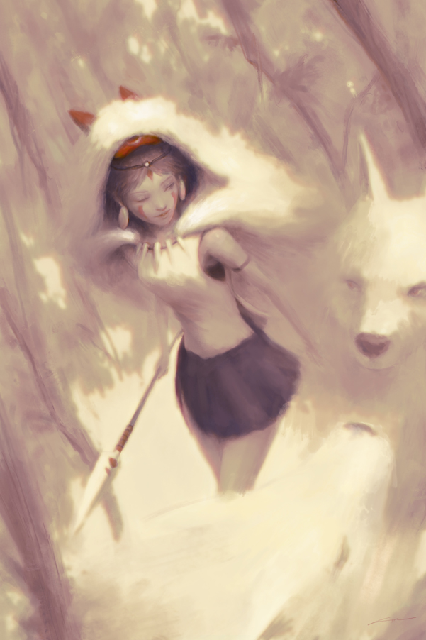 Forest of the Dawn (Princess Mononoke) by Alex-Chow