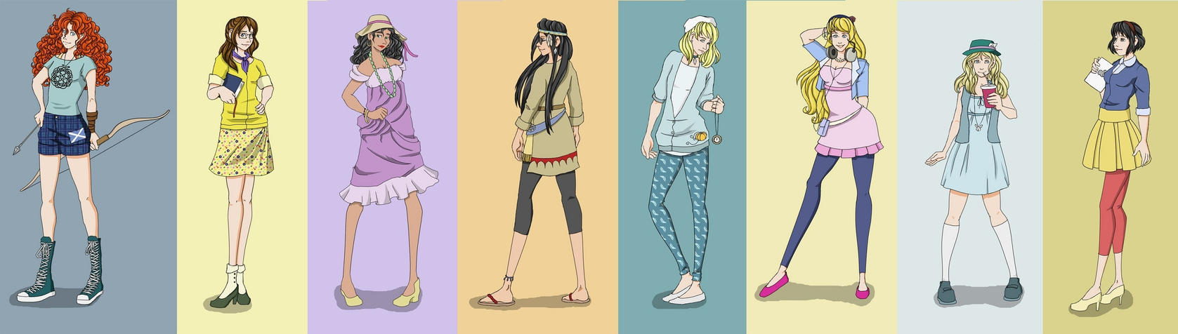 Hipster Disney Princesses II by mayanna