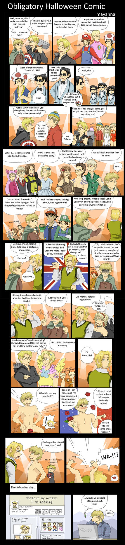 Hetalia: Obligatory Halloween Comic by mayanna