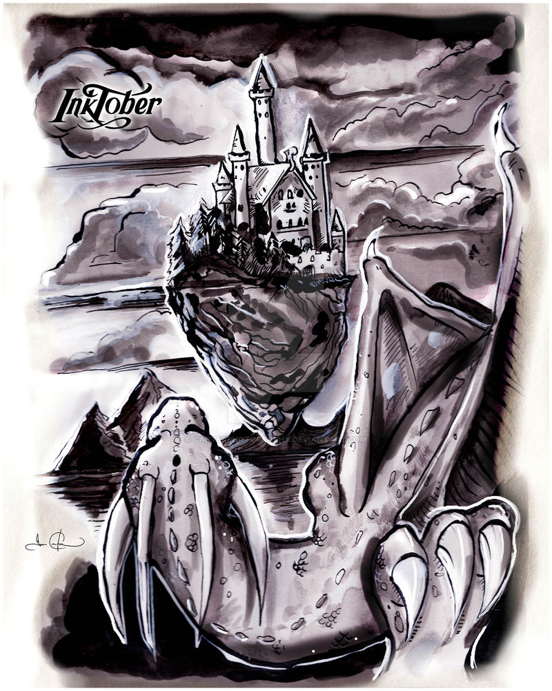 Inktober | 20171019 | Clouds - Castle in the Sky by CarterPhotography