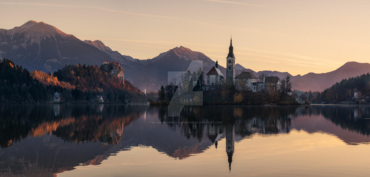 Slovenia. Morning at Lake Bled by naumenkophotographer