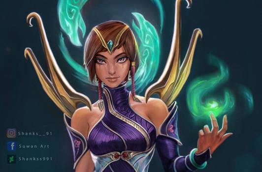 Fan art - Karma (League of Legends)