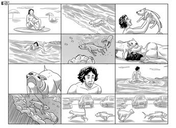 Storyboard Puppy-fish  Volkswagen SpaceFox Page 1