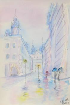 Rainy Day in Lviv