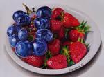 grapes and strawberries by PutyatinaEkaterina