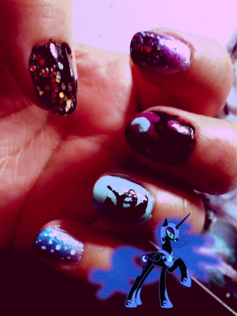 Nightmare Moon nails by Conejita-Ginny