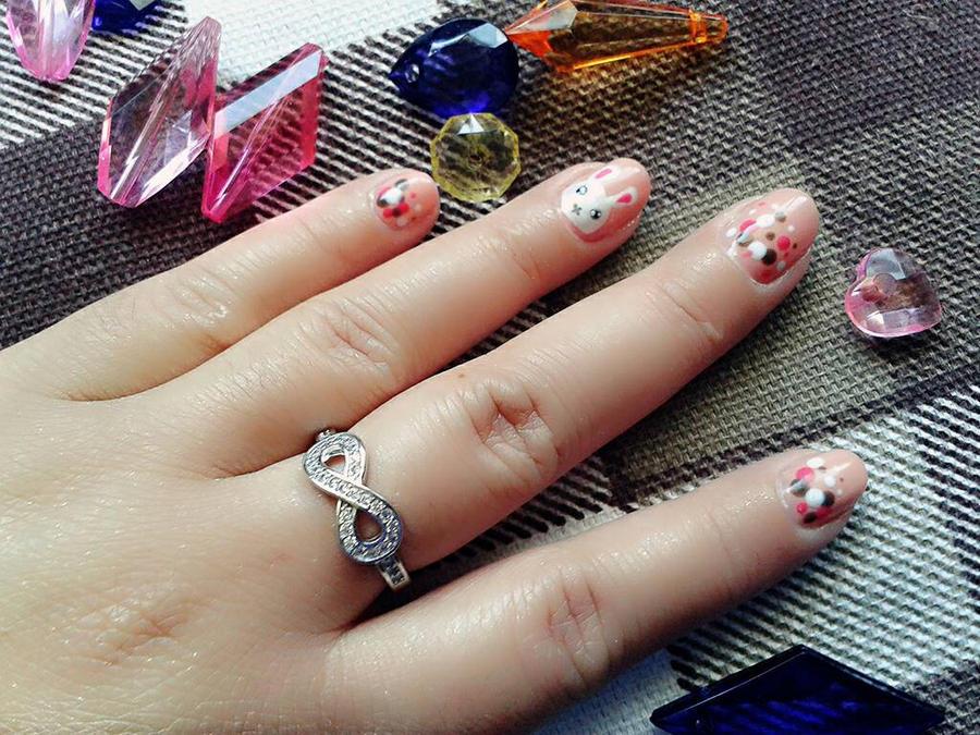 bunny nails by Conejita-Ginny