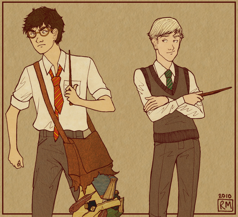 Harry + Draco: Ickle Firsties by Velven