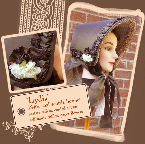 1830s Middle Class Bonnet by Velven