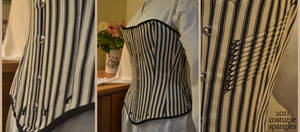 1880s Striped Corset by Velven