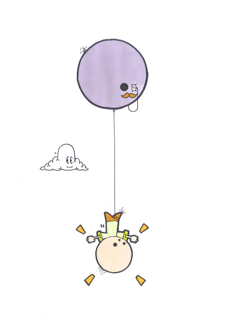 Balloon Abduction (2) by Filofax