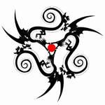 Dragon triskel Design