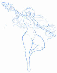 WIP virgo sketch by mkonstantinov
