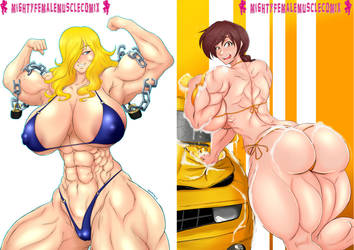 Mighty Female Muscle Comix SAMPLE! by mkonstantinov