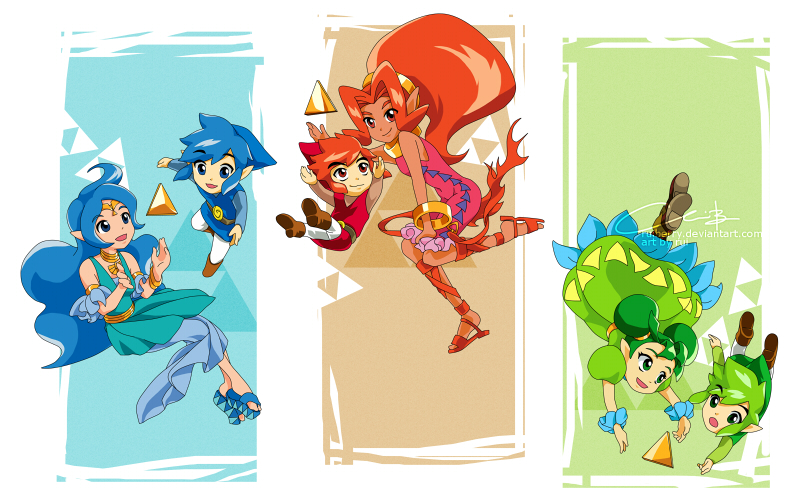 Red Blue Green Heroes by ruiberry