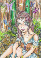 Forest Realm (ACEO) by Keyshe54