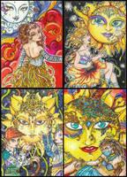 Celestial ACEOs by Keyshe54