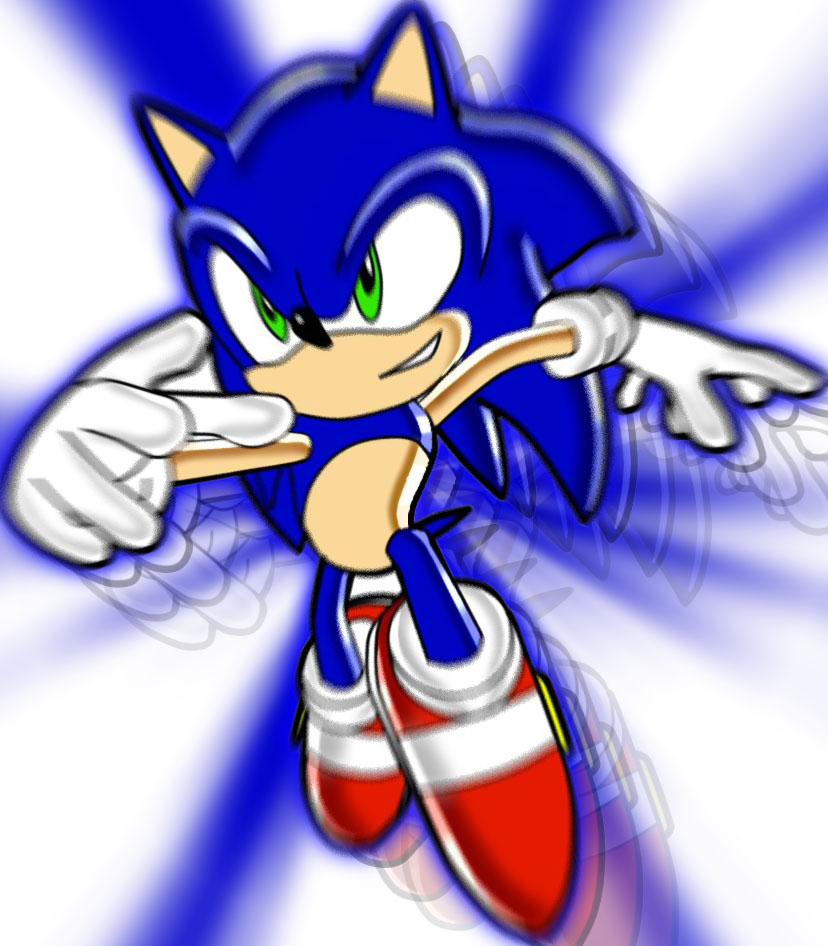 Sonic the Hedgehog Dashing SA2 by Ajanime22