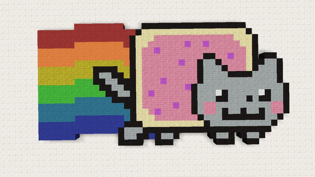 Minecraft Pixel Art: Nyan Cat by JarkoStudios on DeviantArt