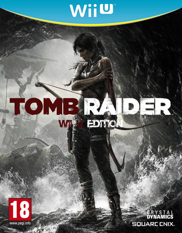 tomb raider 2013 fanmade box art wii u edition by