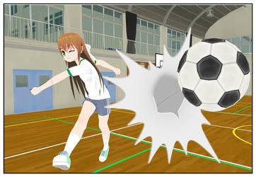 Monika's 4th wall football by Anoldanimefan