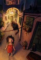 Cat Alley by OlgaAndreyeva