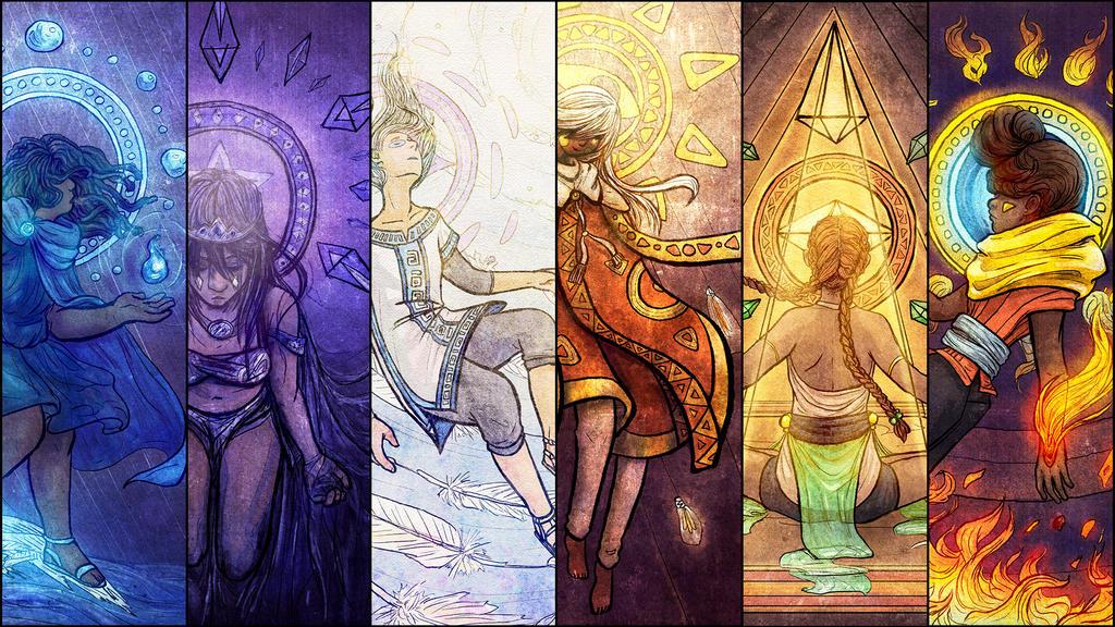 Elements Of Art Painting : Elements wallpaper by olgaandreyeva on deviantart