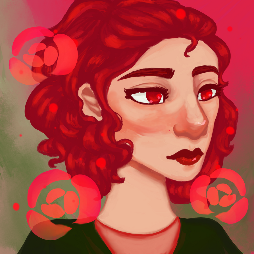 Red Rose by wolfbanefoxglove