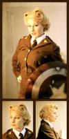 Captain America aka Stella Rogers by dangerousladies