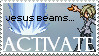 Joshua's Jesus Beams Stamp by Seasalticee