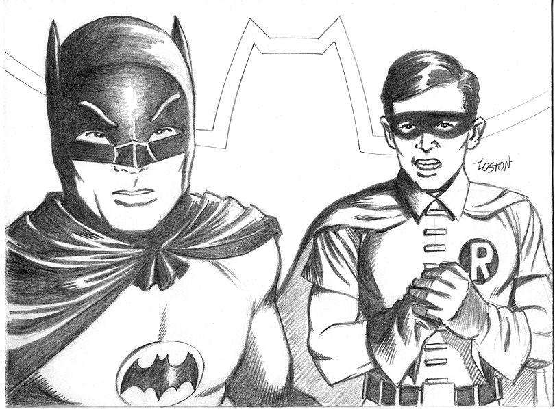 Batman and Robin Sketch 2008 by MichaelWKellarINKS on ...
