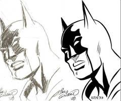 Batman Digitally Inked by Me