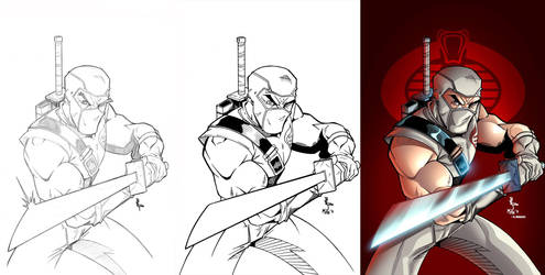 PENCILS to INKS to COLORS by MichaelWKellarINKS
