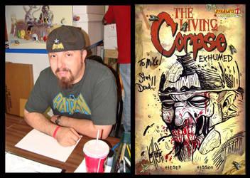 Me turned Zombie by Ken Haeser by MichaelWKellarINKS