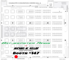 Heroes Con 2012 Booth Location by MichaelWKellarINKS