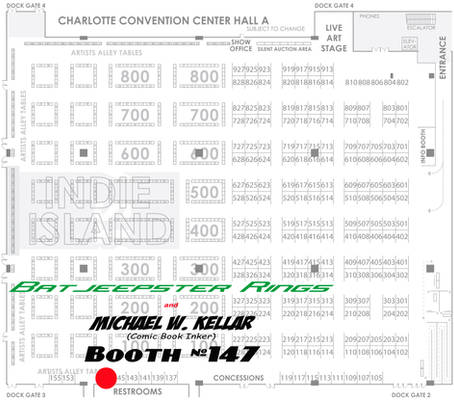 Heroes Con 2012 Booth Location