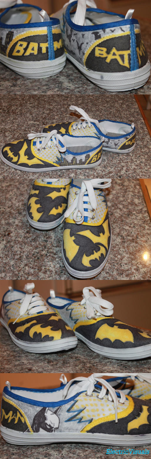Batman Shoes by ElectricVISUALS
