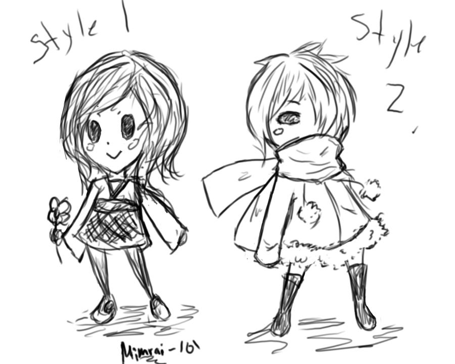 It's just a picture of Rare Chibi Style Drawing