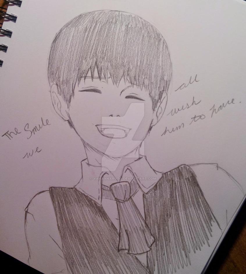 Kaneki's Smile by YayaXNaruto
