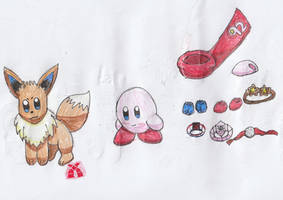 Kirby the Eevee Ref Sheet