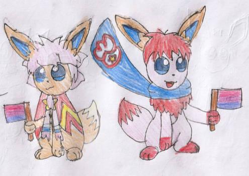 Kirby the Eevee and Kirbeevee (LGBT Pride)