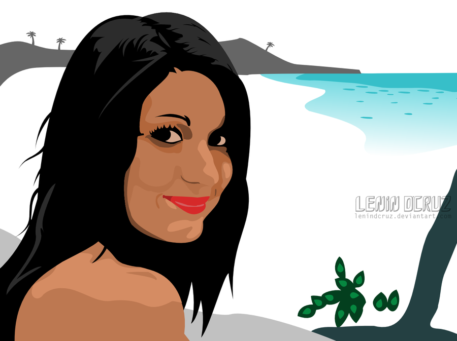 By the beach, she smiled by lenindcruz