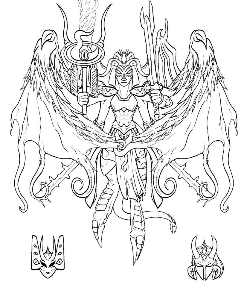 40K Daemon Princess Concept by M60-Carnifex