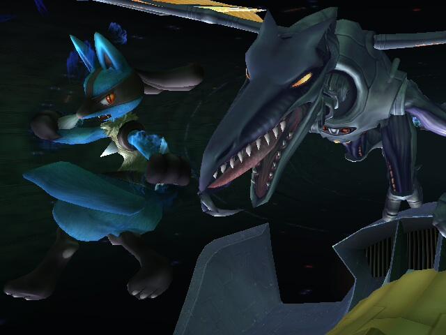 Lucario VS. Meta Ridley by LucarioSkyWalker508