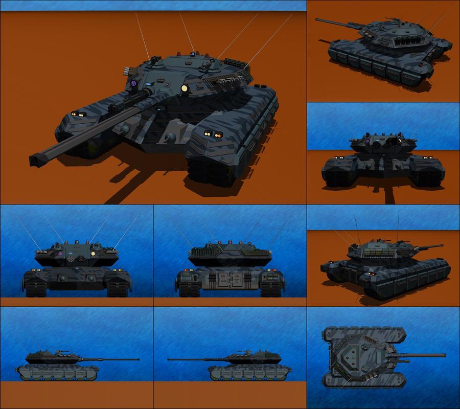Diablo Mark III Heavy Battle Tank by Raven-Gold