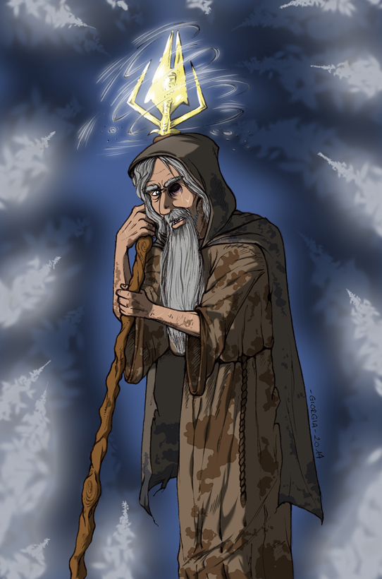 The Gods - Odin as the Grey Pilgrim by MadFretsy